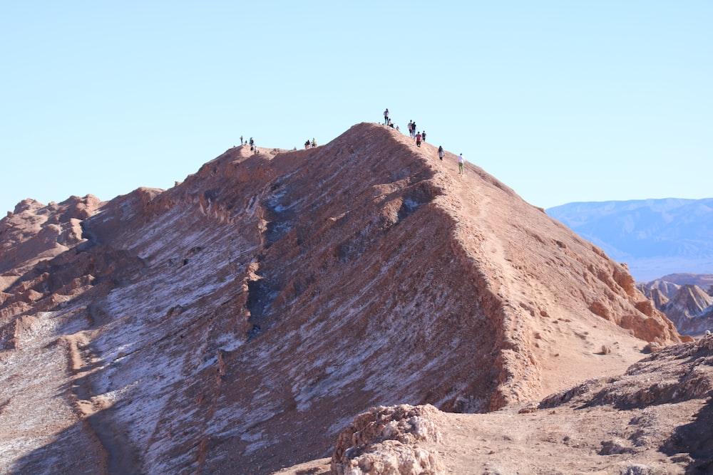 people walking on mountain during daytime