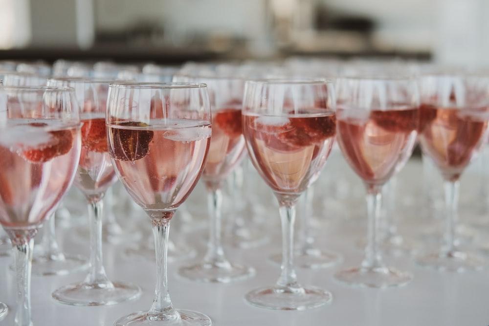 clear long stem wine glass lot