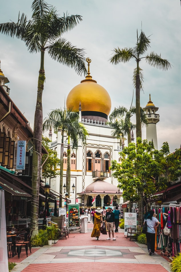 mosque, sultan mosque, singapore, kampong glam, bugis, islam, culture, history, malay