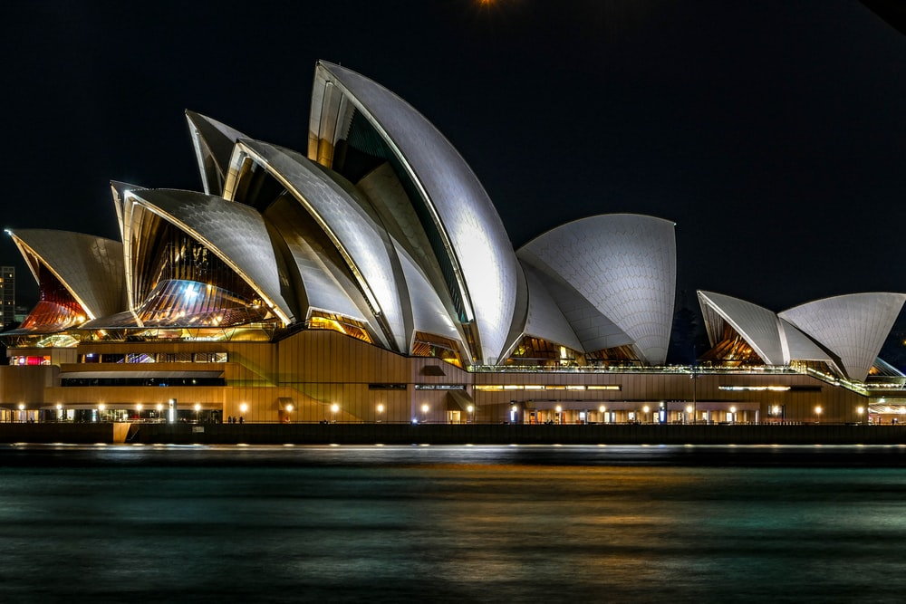 architectural photo of the Sydney Opera House