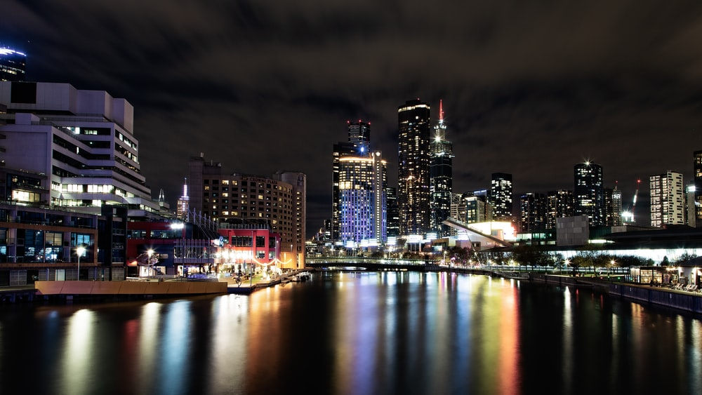 landscape photography of city during nighttime