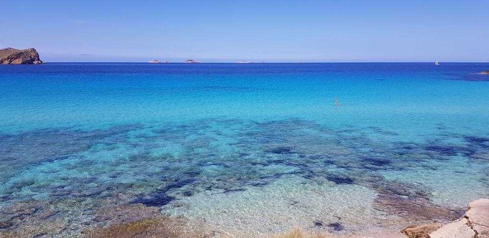 clear blue sea water