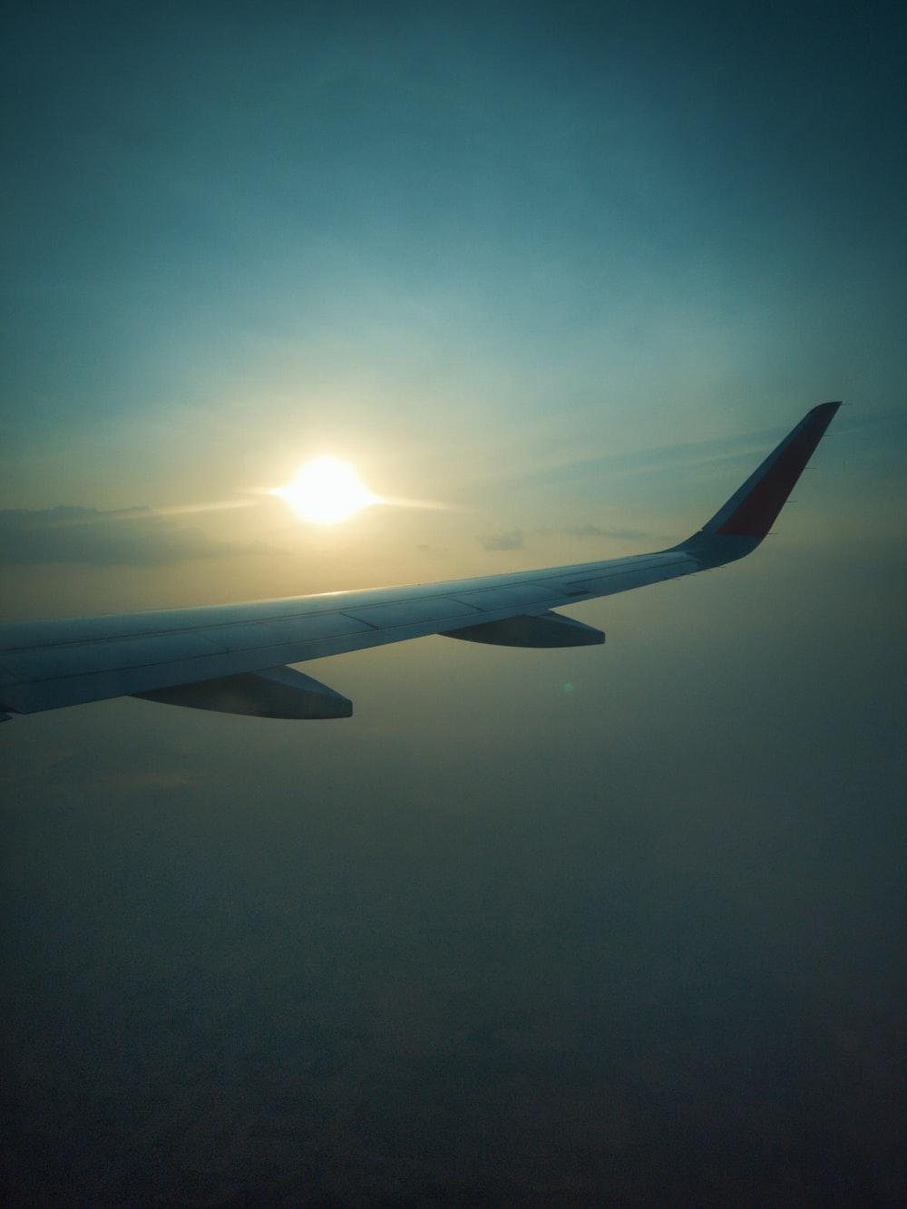 airplane on flight