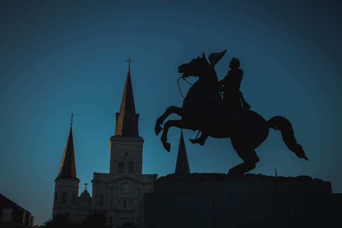 St. Louis Cathedral during golden hour