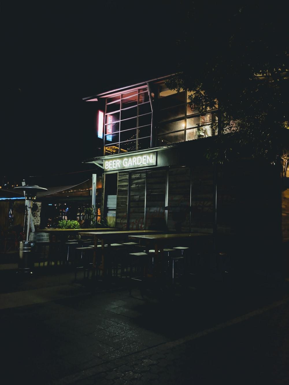 2-storey building during nighttime