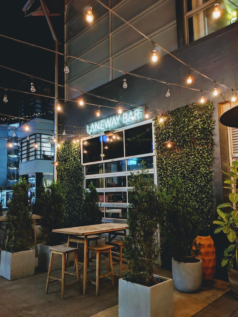 Laneway Bar at night