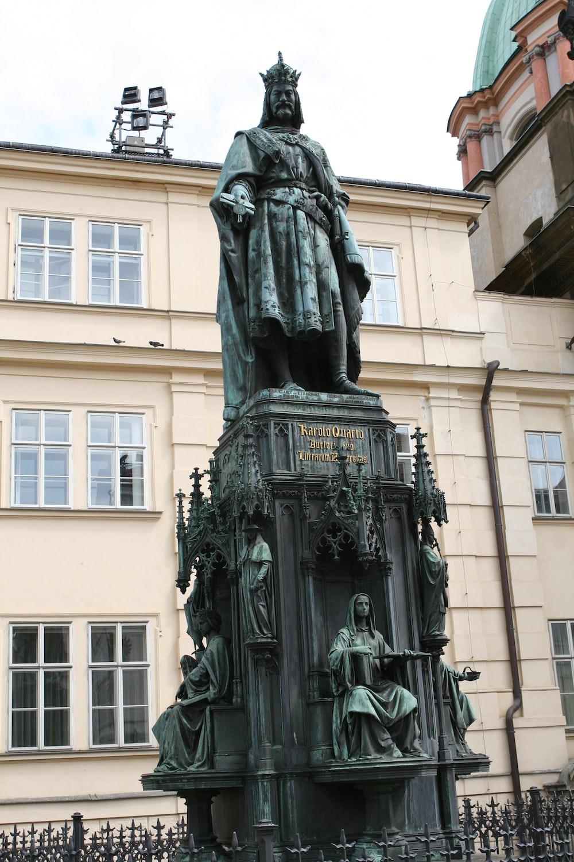 Statue of Charles IV at Prague Czech Republic