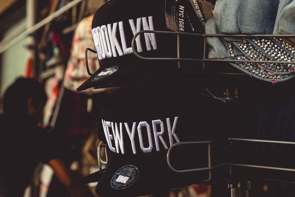 black New York cap