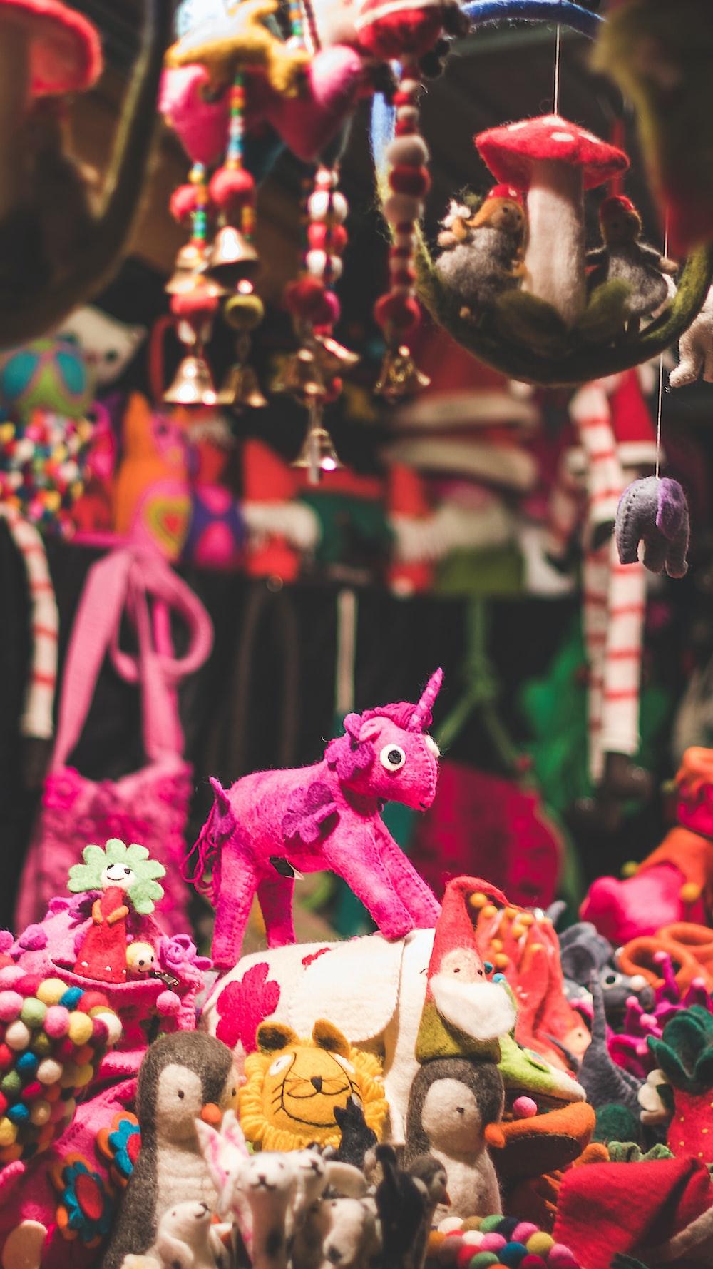 assorted-type plush toys