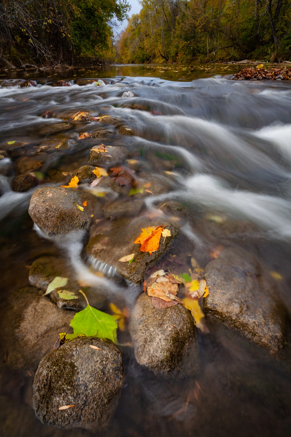 time lapse photo of flowing water during daytime