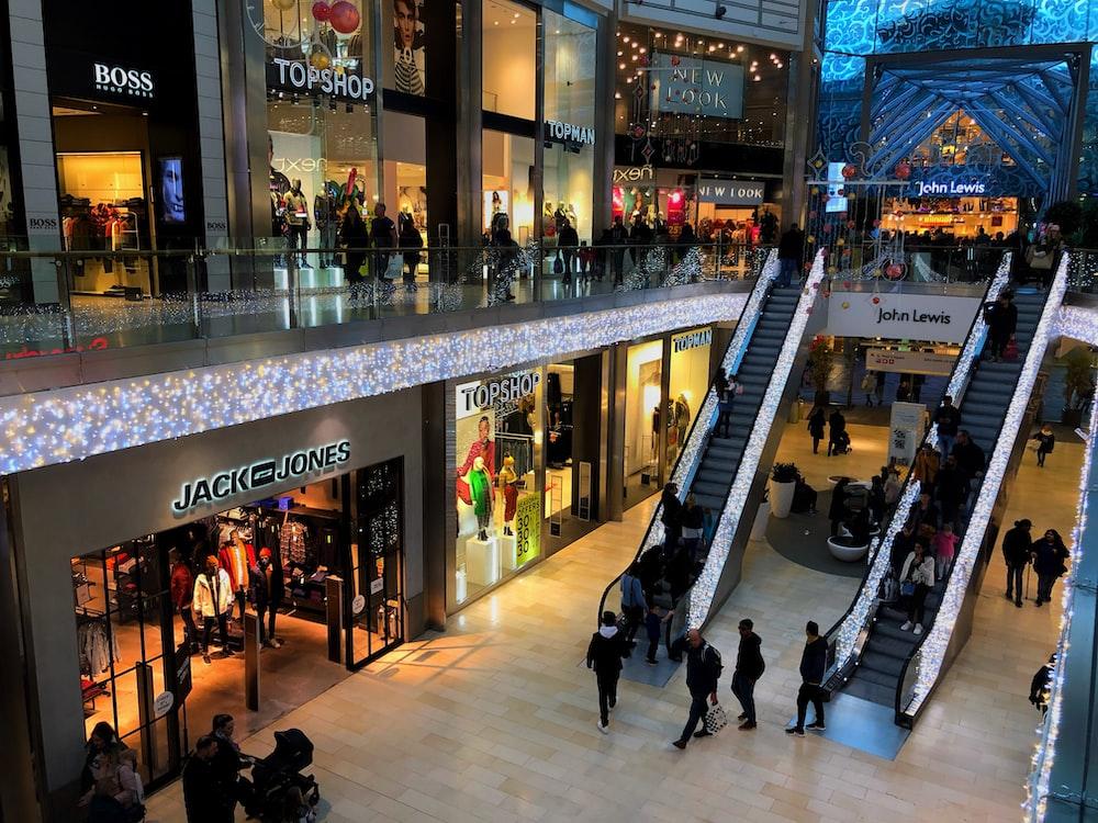 people walking inside mall