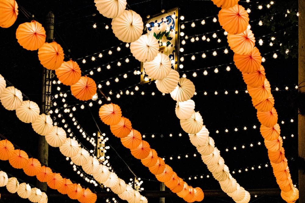 orange and yellow lanterns