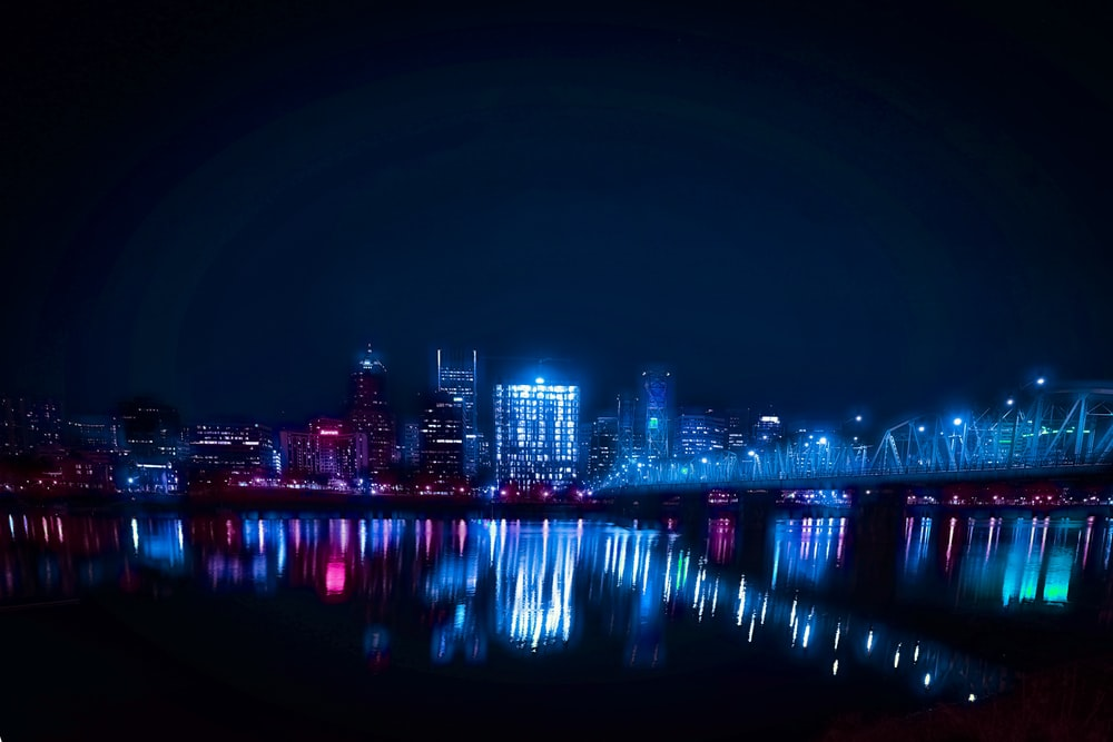 cityscape photography during nighttime