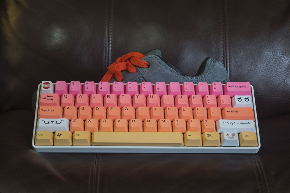 multicolored keyboard