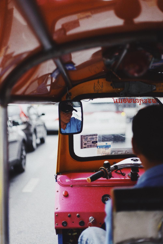 man driving autorickshaw