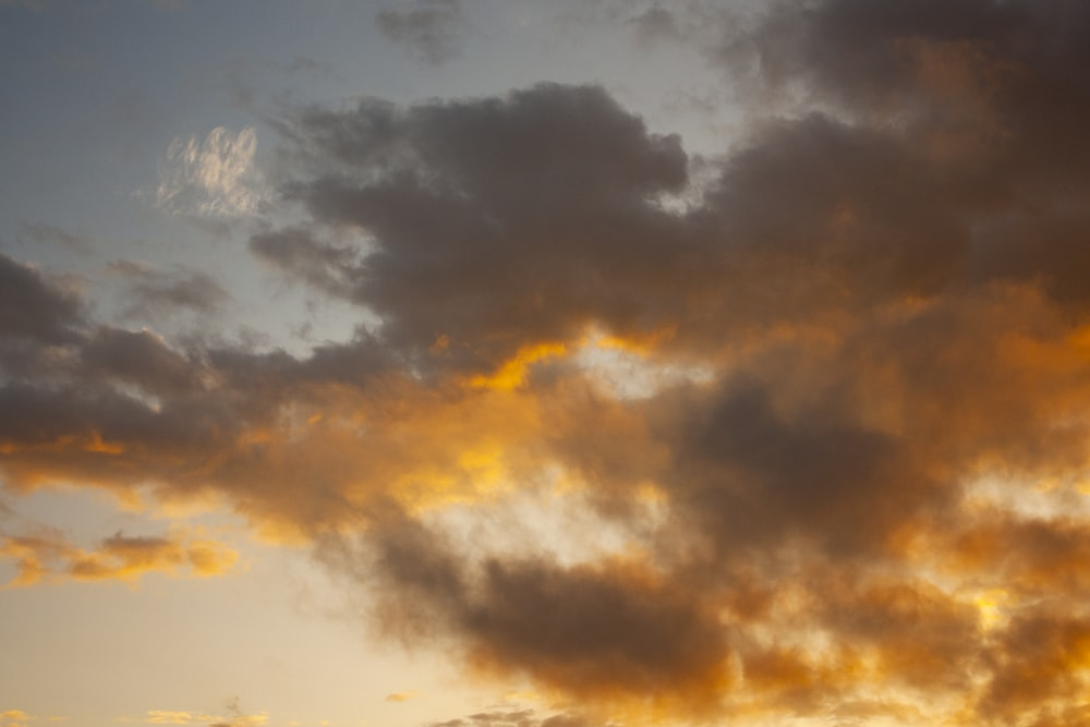 clouds at golden hour