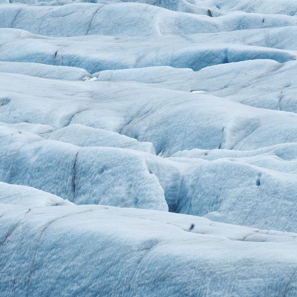 landscape photography of glacier field