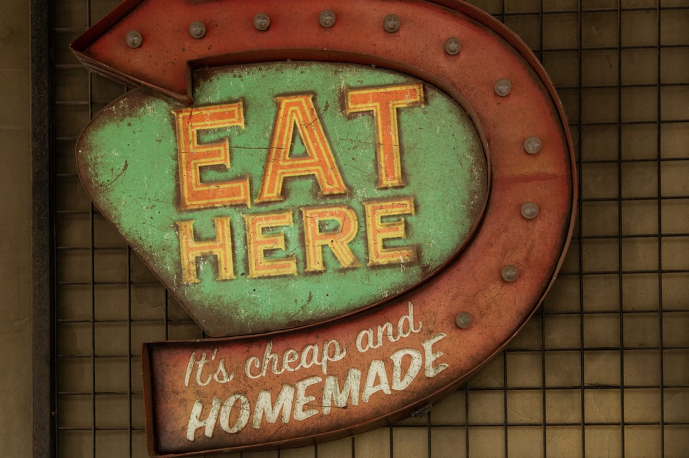 Eat Here its cheap and homemade