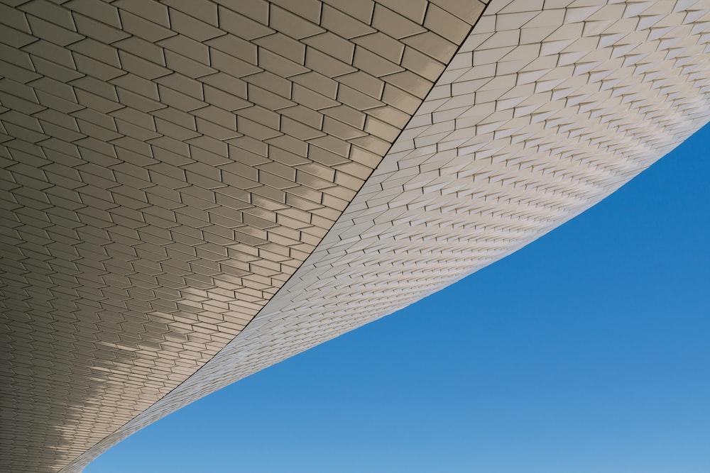 beige structure under blue sky
