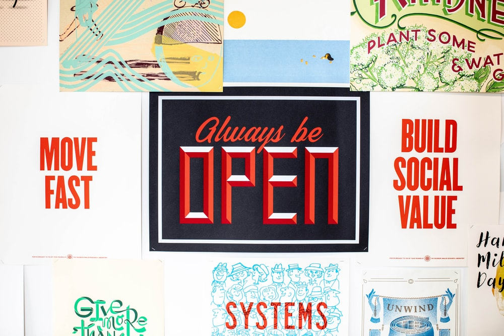 always be open sign