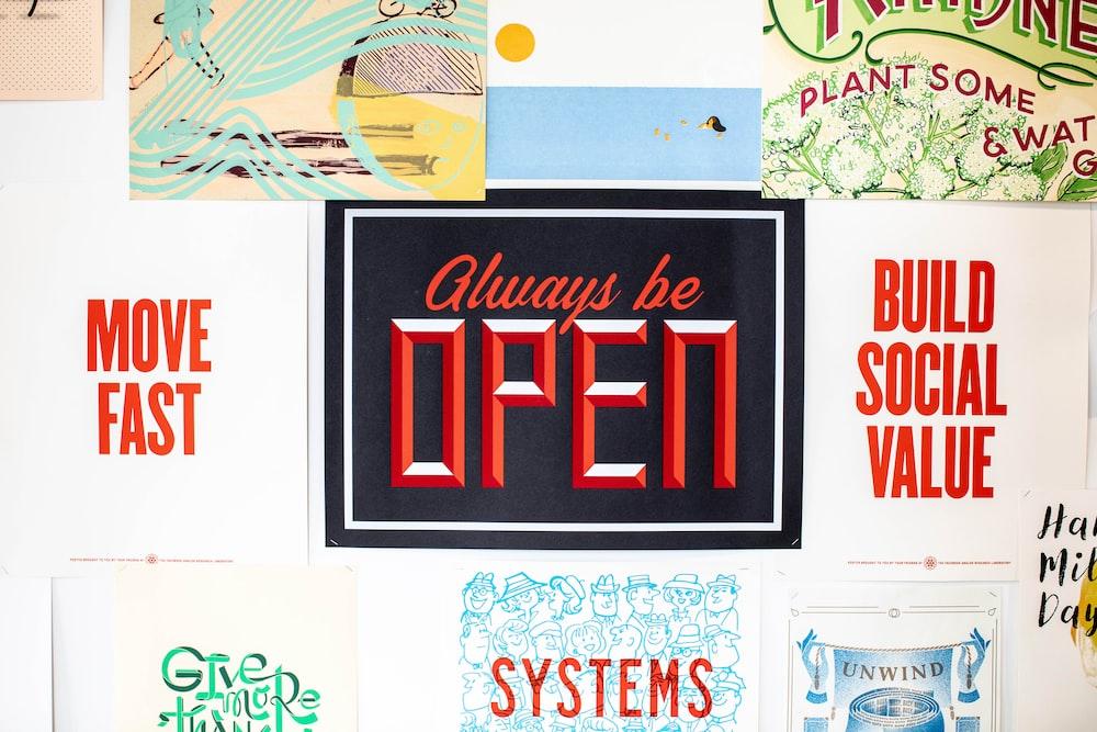 always be open sign