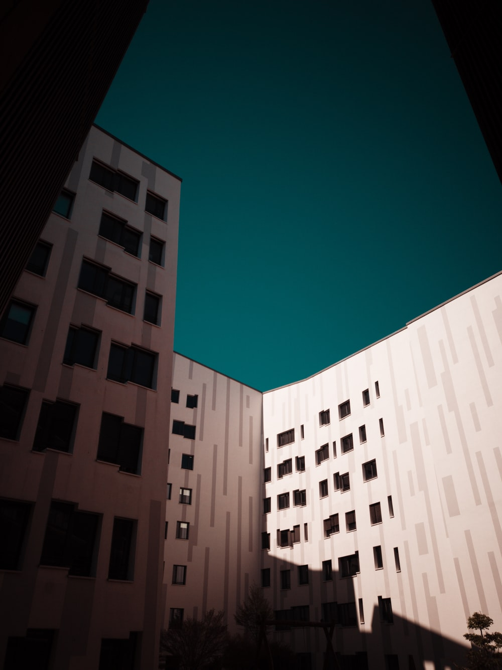white and black concrete buildings