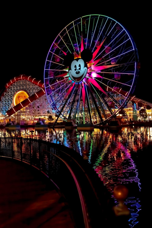 multicolored ferris-wheel during nighttime