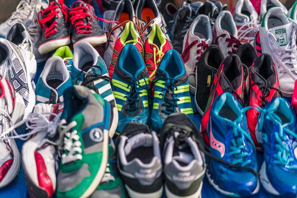 assorted-color shoe lot