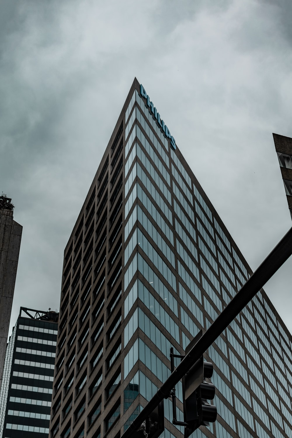 curtain wall glass building during daytime