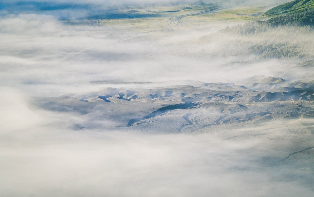 white sea of clouds