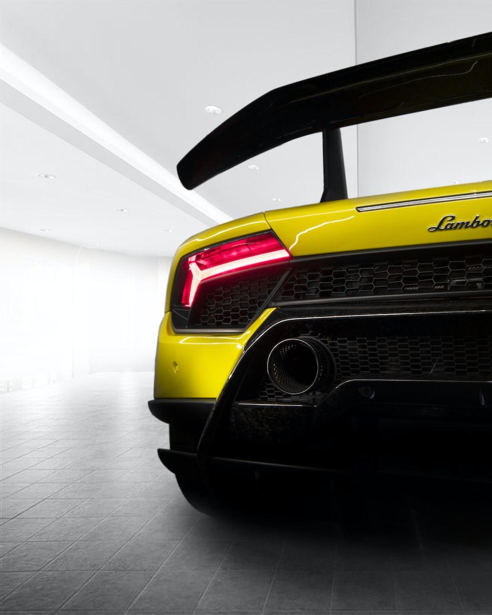 yellow and black Lamborghini vehicle screenshot