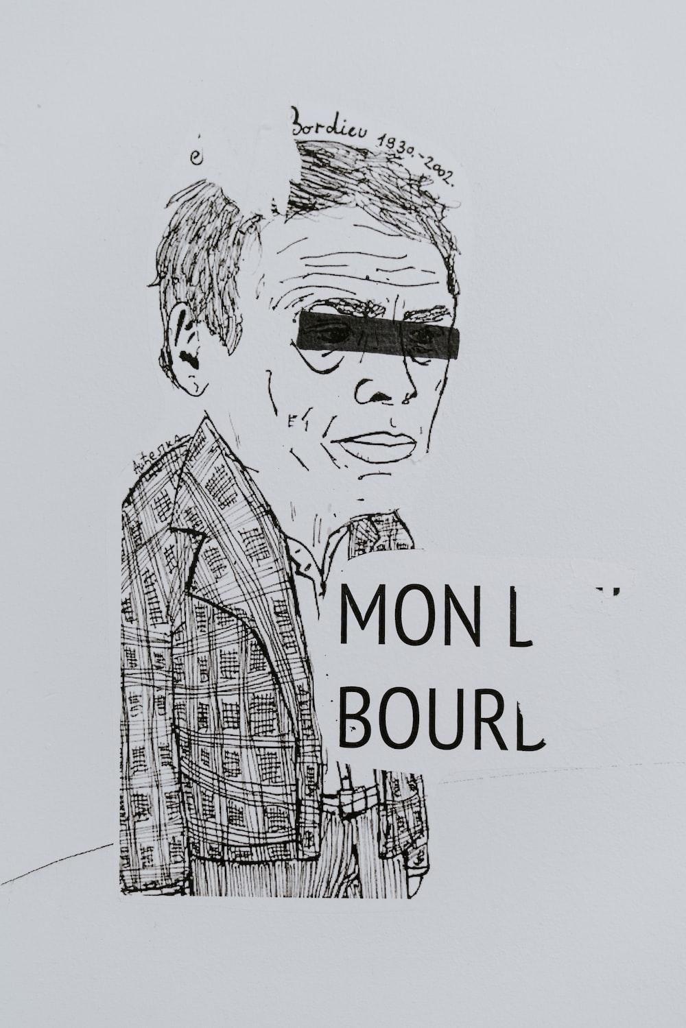 mon l bourd man cartoon drawing