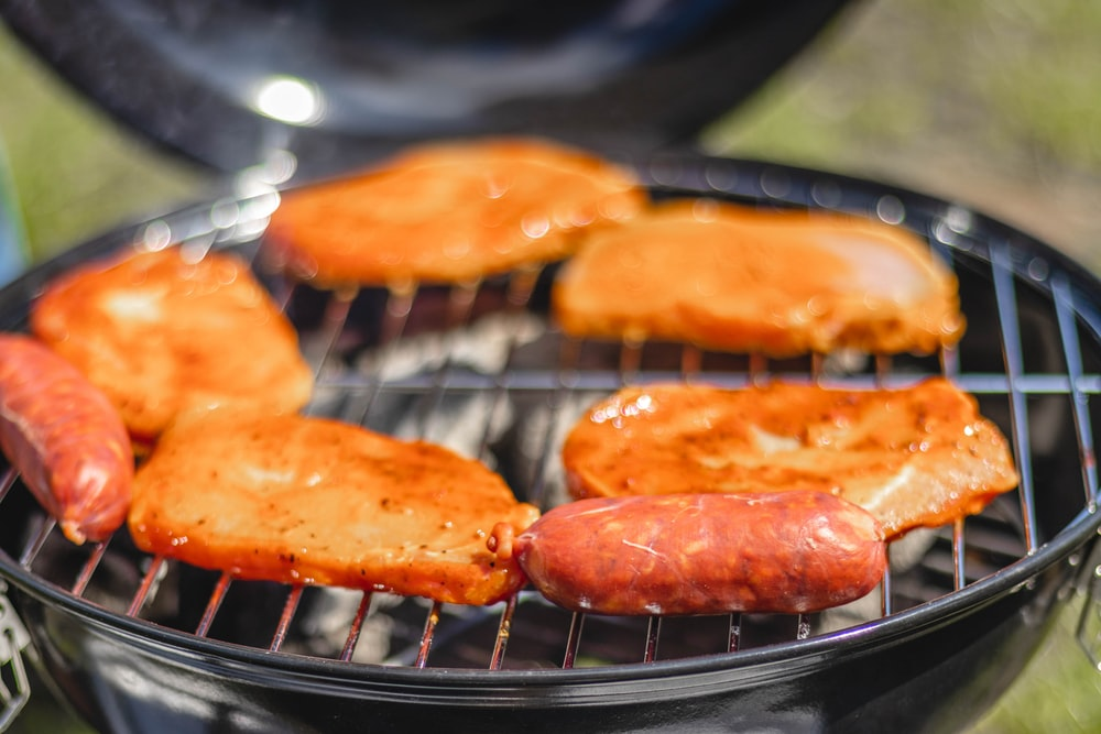 grilled sausage and meat