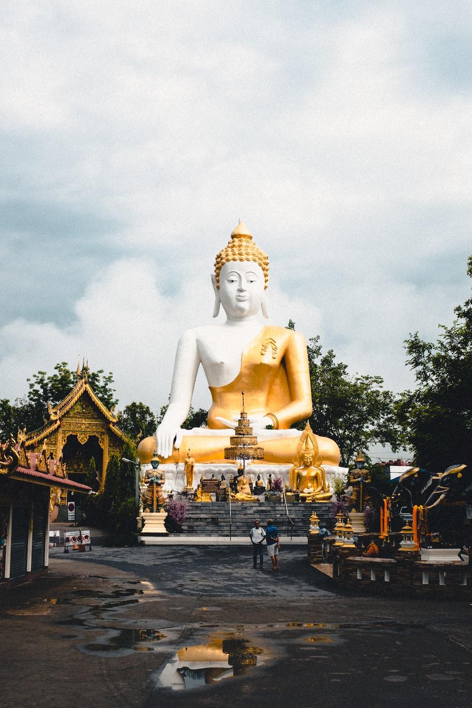 sitting Buddha statue during daytime