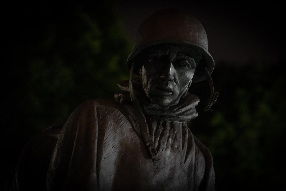 brown metallic statue