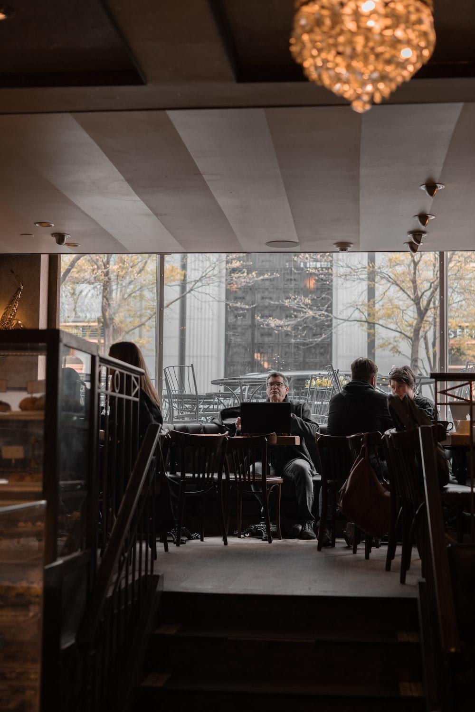man sitting near the window