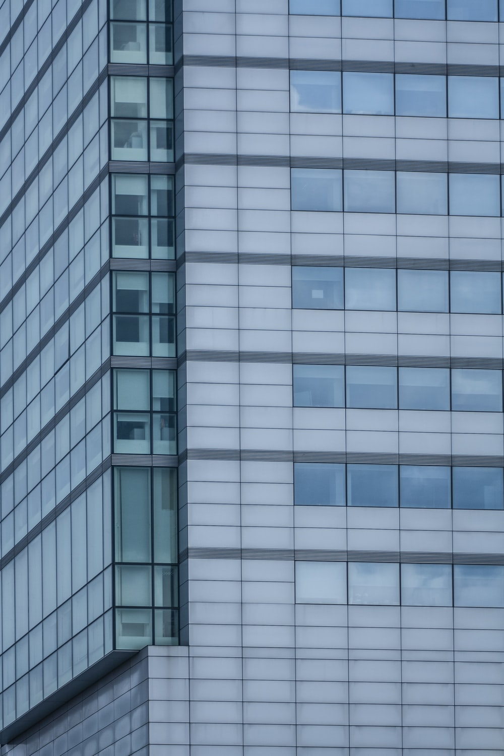 glass walled high rise building