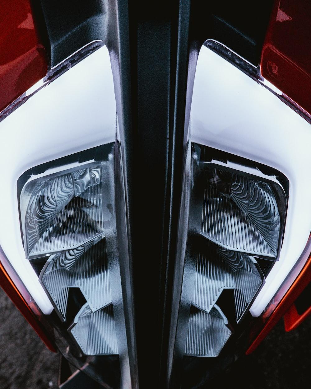 two vehicle headlights