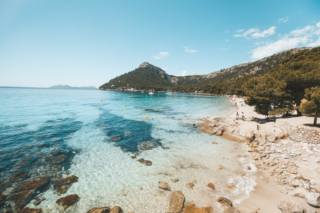 beautiful snorkelling spot in Mallorca