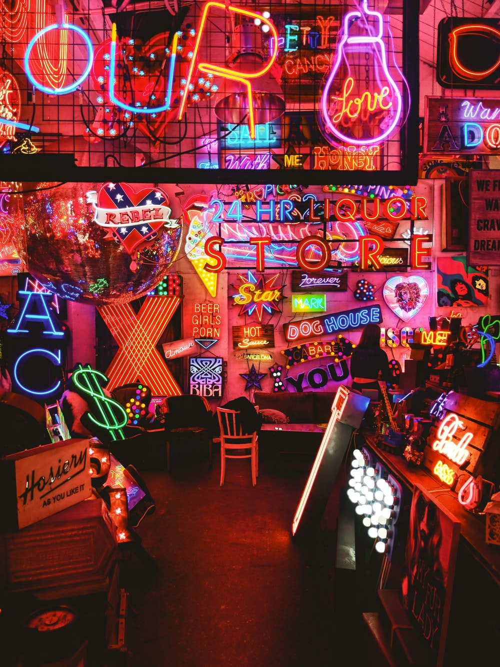 multicolored lighted neon signs
