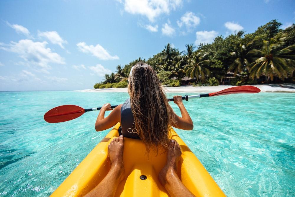 woman on kayak