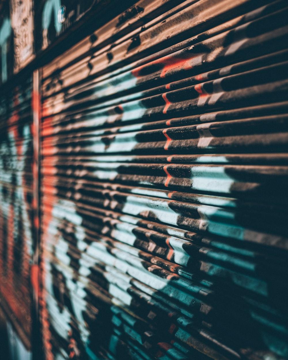 grafitti on rollup door