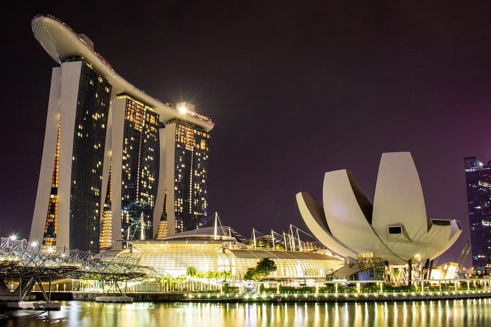 Marina bay Sands Singapore at night time