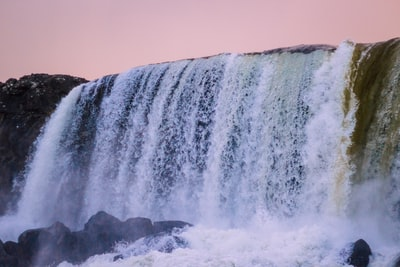 waterfall in timelapse photography