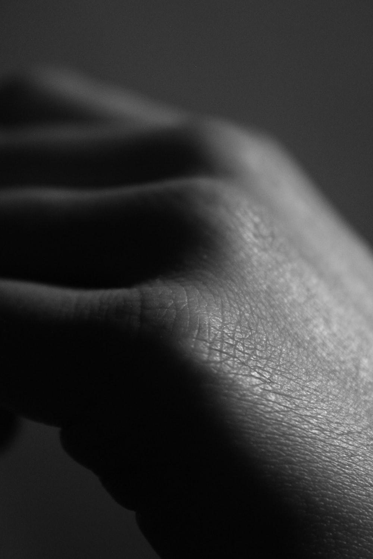 macro photography of hand