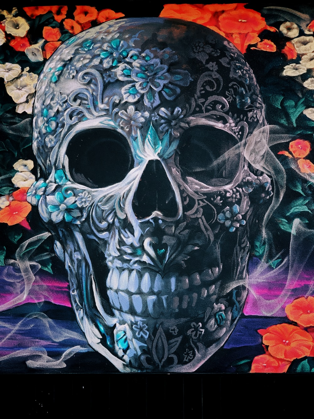 skull wallpaper photo – Free Art Image