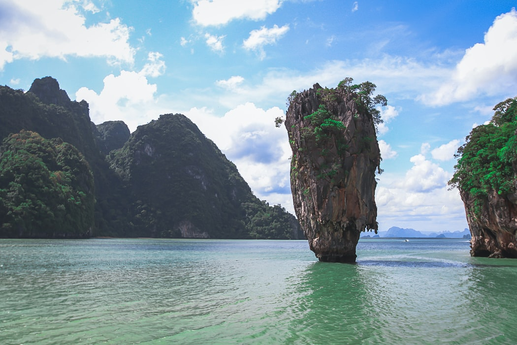 The James bond Island in Phuket.