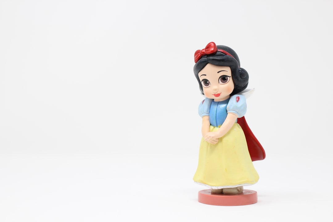Snow White is a young princess. Her stepmother has forced her to work as a scullery maid in the castle. Despite this, she retains a cheerful but naïve demeanor.  I like this figurine because it shows Snow White's innocence and purity.  I've been exploring toy photography using my lightbox and I've enjoyed playing around with different settings to get the right highlights and exposure.