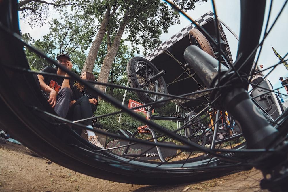 lying BMX bike