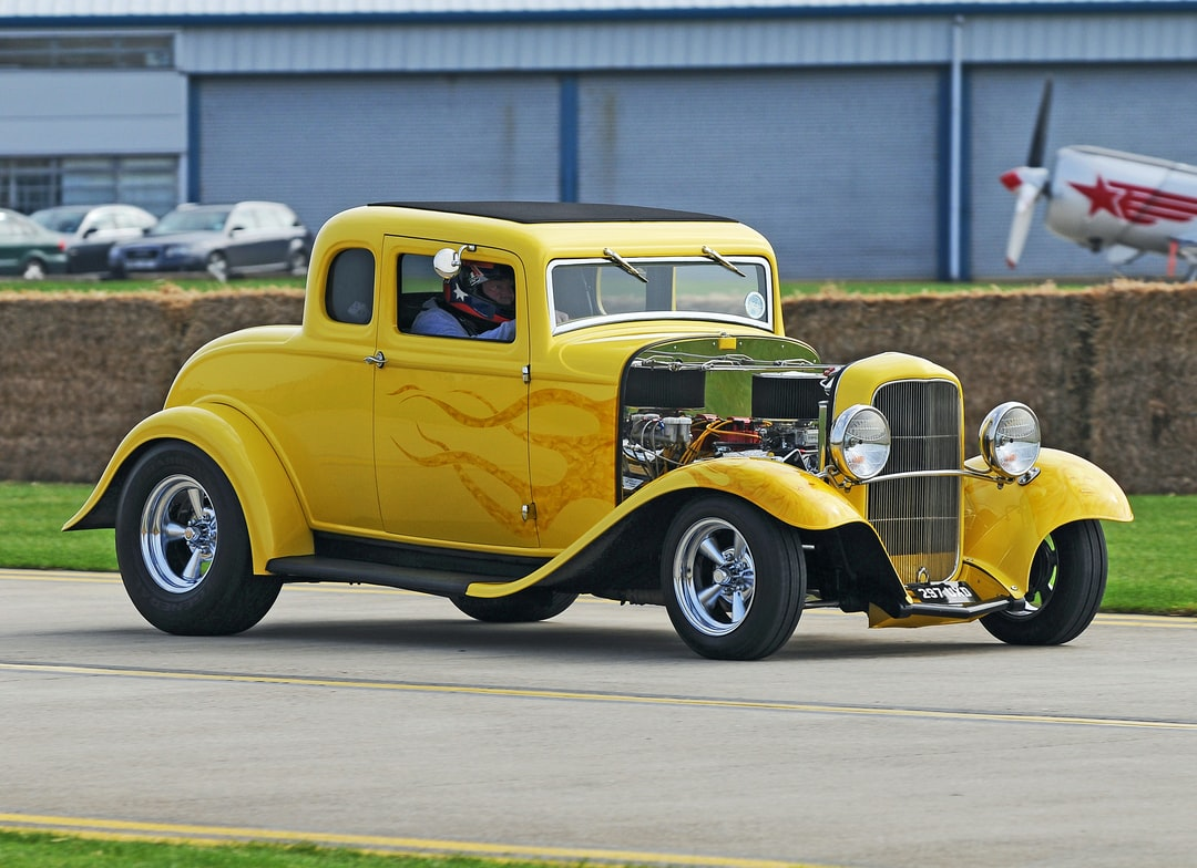 """1932 Ford 3622cc Hotrod. Taken at a """"Piston and Props."""" meet at Sywell airfield. September 2014. Not the usual thing I would photograph. But, I like this for the """"Engineering and Dedication"""" by the person who produced this car. ."""